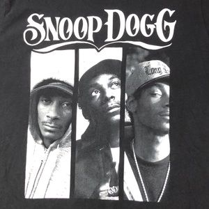 Fierce Broad Tops - Snoop Dogg Black T Shirt